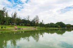 Ο κήπος λιμνών Permaisuri είναι ένα από το διάσημο πάρκο σε Cheras στοκ φωτογραφία