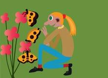 Ο κήπος λουλουδιών μου διανυσματική απεικόνιση