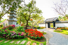 Ο κήπος παραδοσιακού κινέζικου στοκ εικόνα