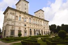 Ο κήπος στο Galleria Borghese Ρώμη Ιταλία Στοκ φωτογραφία με δικαίωμα ελεύθερης χρήσης