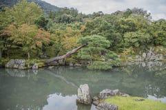 Ο κήπος της Zen ναών Tenryuji σε Arashiyama Κιότο Ιαπωνία Στοκ φωτογραφίες με δικαίωμα ελεύθερης χρήσης