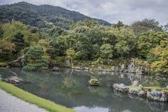 Ο κήπος της Zen ναών Tenryuji σε Arashiyama Κιότο Ιαπωνία Στοκ Εικόνα