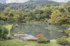 Ο κήπος της Zen ναών Tenryuji σε Arashiyama Κιότο Ιαπωνία Στοκ Φωτογραφίες