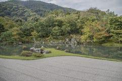 Ο κήπος της Zen ναών Tenryuji σε Arashiyama Κιότο Ιαπωνία Στοκ φωτογραφία με δικαίωμα ελεύθερης χρήσης