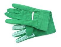 Ο κήπος φορά γάντια σε πράσινο Στοκ φωτογραφίες με δικαίωμα ελεύθερης χρήσης