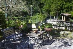 ο κήπος χαλαρώνει Στοκ Εικόνες