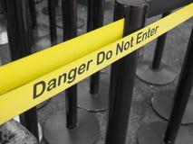 ο κίνδυνος εισάγει όχι τ&omicr Στοκ φωτογραφία με δικαίωμα ελεύθερης χρήσης