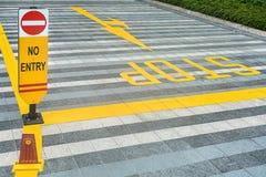 Ο κίτρινος οδικός χαρακτηρισμός στρώνει επάνω Στοκ εικόνα με δικαίωμα ελεύθερης χρήσης