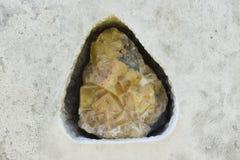 Ο κίτρινος φθορίτης στην επιφάνεια πετρών, Δρέσδη, Γερμανία Στοκ φωτογραφία με δικαίωμα ελεύθερης χρήσης