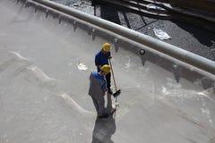 Ο καθαρισμός και η αποκατάσταση πηγών TREVI Στοκ φωτογραφία με δικαίωμα ελεύθερης χρήσης