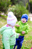 ο καθαρισμός παιδιών πράσι& Στοκ Εικόνα