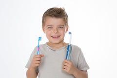 Ο καθαρισμός των δοντιών μου είναι σημαντικός στοκ φωτογραφίες με δικαίωμα ελεύθερης χρήσης