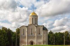 Ο καθεδρικός ναός Αγίου Demetrius είναι ένας καθεδρικός ναός στη ρωσική πόλη του Βλαντιμίρ Στοκ Εικόνες