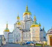 Ο καθεδρικός ναός μεταμόρφωσης Pochayiv Lavra Στοκ Εικόνες