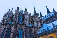Ο καθεδρικός ναός της Κολωνίας ή ο υψηλός καθεδρικός ναός Αγίου Peter είναι Ρωμαίος - καθολικός καθεδρικός ναός Στοκ εικόνες με δικαίωμα ελεύθερης χρήσης