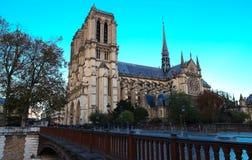 Ο καθεδρικός ναός της Notre Dame, Παρίσι, Γαλλία Στοκ εικόνες με δικαίωμα ελεύθερης χρήσης