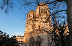 Ο καθεδρικός ναός της Notre Dame στην ηλιόλουστη ημέρα, Παρίσι, Γαλλία Στοκ εικόνες με δικαίωμα ελεύθερης χρήσης