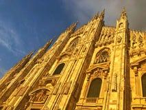 Ο καθεδρικός ναός του Μιλάνου είναι η εκκλησία καθεδρικών ναών του Μιλάνου στη Λομβαρδία, αριθ. Στοκ φωτογραφία με δικαίωμα ελεύθερης χρήσης