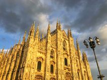 Ο καθεδρικός ναός του Μιλάνου είναι η εκκλησία καθεδρικών ναών του Μιλάνου στη Λομβαρδία, αριθ. Στοκ εικόνα με δικαίωμα ελεύθερης χρήσης