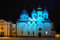 Ο καθεδρικός ναός του ST Sophia στο Κρεμλίνο Veliky Novgorod Στοκ Εικόνες