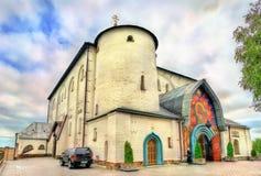 Ο καθεδρικός ναός τριάδας σε Pochayiv Lavra στην Ουκρανία Στοκ Φωτογραφία