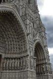 Ο καθεδρικός ναός Amiens είναι Ρωμαίος - καθολικός καθεδρικός ναός Στοκ εικόνα με δικαίωμα ελεύθερης χρήσης