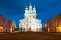 Ο καθεδρικός ναός Smolny μπορεί νύχτα θόλος Isaac Πετρούπολη Ρωσία s Άγιος ST καθεδρικών ναών Στοκ φωτογραφία με δικαίωμα ελεύθερης χρήσης