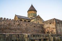 Ο καθεδρικός ναός Svetitskhoveli είναι της Γεωργίας ορθόδοξος καθεδρικός ναός τοποθετημένος Στοκ Εικόνα