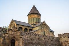 Ο καθεδρικός ναός Svetitskhoveli είναι της Γεωργίας ορθόδοξος καθεδρικός ναός τοποθετημένος Στοκ φωτογραφία με δικαίωμα ελεύθερης χρήσης