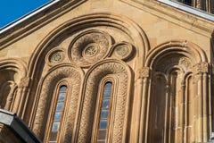 Ο καθεδρικός ναός Svetitskhoveli είναι της Γεωργίας ορθόδοξος καθεδρικός ναός τοποθετημένος Στοκ Φωτογραφίες