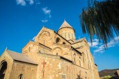 Ο καθεδρικός ναός Svetitskhoveli είναι της Γεωργίας ορθόδοξος καθεδρικός ναός τοποθετημένος Στοκ εικόνες με δικαίωμα ελεύθερης χρήσης