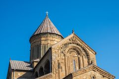 Ο καθεδρικός ναός Svetitskhoveli είναι της Γεωργίας ορθόδοξος καθεδρικός ναός τοποθετημένος Στοκ Εικόνες