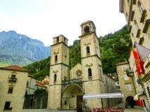 Ο καθεδρικός ναός Άγιος Tryphon είναι ρωμαϊκά - καθολικός καθεδρικός ναός στην παλαιά πόλη Kotor, Μαυροβούνιο Στοκ φωτογραφίες με δικαίωμα ελεύθερης χρήσης