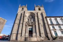 Ο καθεδρικός ναός ή το SE Catedral του Πόρτο κάνει το Πόρτο Στοκ Φωτογραφία