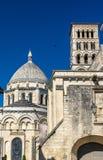 Ο καθεδρικός ναός Αγίου Peter του Angouleme ενσωμάτωσε το Romanesque ύφος - Γαλλία, Charente Στοκ φωτογραφία με δικαίωμα ελεύθερης χρήσης