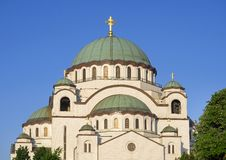 Ο καθεδρικός ναός Αγίου Sava (Sveti Sava) σε Βελιγράδι Στοκ φωτογραφίες με δικαίωμα ελεύθερης χρήσης