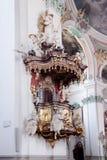 ο καθεδρικός ναός κληρονομιάς ο εσωτερικός ορόσημων εμφανισμένος λίστα κατάλογος κόσμος της ΟΥΝΕΣΚΟ του ST ελβετικός στοκ εικόνα