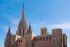 Ο καθεδρικός ναός της Βαρκελώνης Στοκ φωτογραφία με δικαίωμα ελεύθερης χρήσης