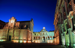 Ο καθεδρικός ναός της πόλης Lecce Στοκ εικόνες με δικαίωμα ελεύθερης χρήσης