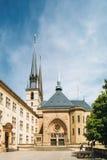 Ο καθεδρικός ναός της Notre-Dame, Λουξεμβούργο είναι ο Ρωμαίος - καθολικός καθεδρικός ναός Στοκ Φωτογραφία