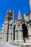 Ο καθεδρικός ναός της Notre-Dame, Λωζάνη, Ελβετία Στοκ Εικόνα
