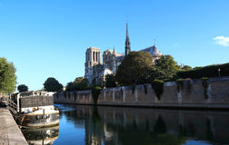 Ο καθεδρικός ναός της Notre Dame, Παρίσι, Γαλλία Στοκ φωτογραφία με δικαίωμα ελεύθερης χρήσης