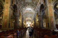 Ο καθεδρικός ναός του Σαντιάγο de Χιλή Στοκ Εικόνα