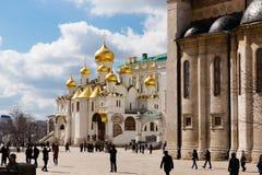 Ο καθεδρικός ναός Annunciation στη Μόσχα Κρεμλίνο Στοκ Εικόνα