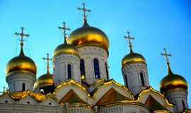 Ο καθεδρικός ναός Annunciation στο Κρεμλίνο, Μόσχα Στοκ φωτογραφία με δικαίωμα ελεύθερης χρήσης