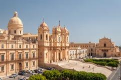 Ο καθεδρικός ναός Noto είναι Ρωμαίος - καθολικός καθεδρικός ναός σε Noto στη Σικελία Στοκ φωτογραφία με δικαίωμα ελεύθερης χρήσης