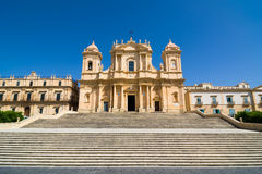 Ο καθεδρικός ναός Noto είναι Ρωμαίος - καθολικός καθεδρικός ναός σε Noto, Σικελία Στοκ εικόνες με δικαίωμα ελεύθερης χρήσης
