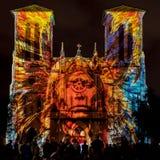 Ο καθεδρικός ναός SAN Fernando με το φως αμερικανών ιθαγενών παρουσιάζει Στοκ εικόνες με δικαίωμα ελεύθερης χρήσης