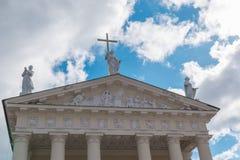Ο καθεδρικός ναός Vilnius Ρωμαίος - καθολικός καθεδρικός ναός στη Λιθουανία Στοκ φωτογραφία με δικαίωμα ελεύθερης χρήσης