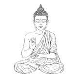 Ο καθισμένος Βούδας στη θέση λωτού Στοκ Φωτογραφίες